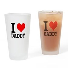 """Your Own Text """"I Heart"""" Drinking Glass"""