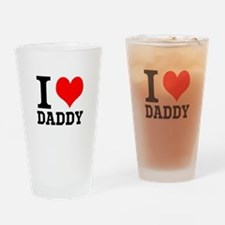 "Your Own Text ""I Heart"" Drinking Glass"