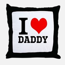 """Your Own Text """"I Heart"""" Throw Pillow"""