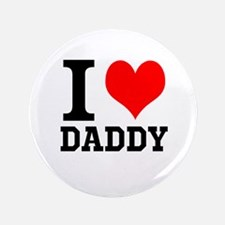 """Your Own Text """"I Heart"""" 3.5"""" Button (100 pack)"""