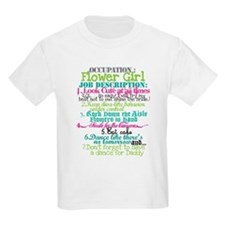 Occupation Flower Girl - Green T-Shirt