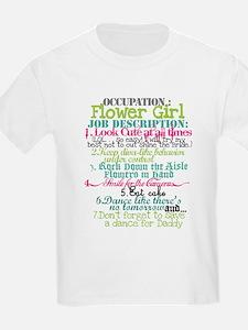 Occupation Flower Girl - Green T-Shirt