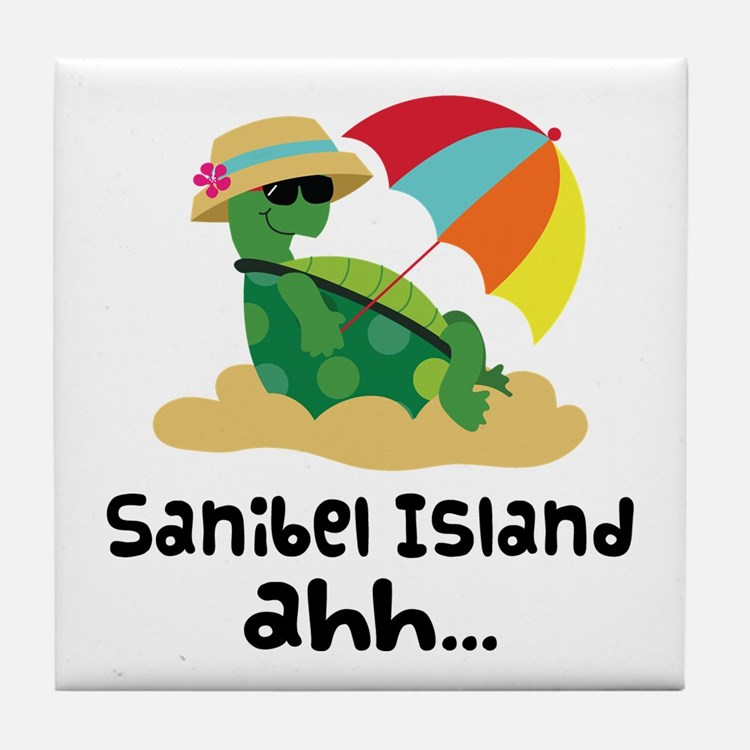 Sanibel Island Florida Tile Coaster