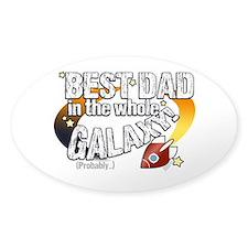 Best Dad Galaxy Decal
