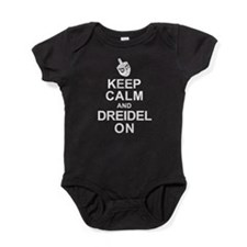 Keep Calm and Dreidel On Baby Bodysuit