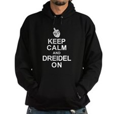 Keep Calm and Dreidel On Hoodie