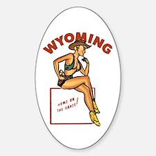 Vintage Wyoming Pinup Decal