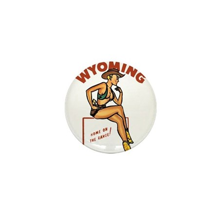 Vintage Wyoming Pinup Mini Button (10 pack)