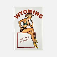 Vintage Wyoming Pinup Rectangle Magnet