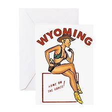 Vintage Wyoming Pinup Greeting Card