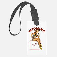 Vintage Wyoming Pinup Luggage Tag