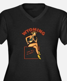 Vintage Wyoming Pinup Women's Plus Size V-Neck Dar