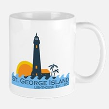 St. George Island - Lighthouse Design. Mug