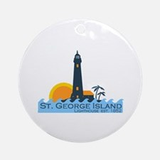 St. George Island - Lighthouse Design. Ornament (R