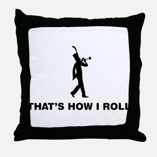 Trumpeter Throw Pillow