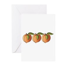 Row Of Peaches Greeting Cards (Pk of 20)