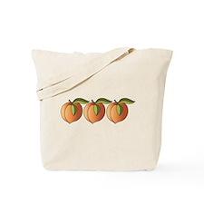 Row Of Peaches Tote Bag