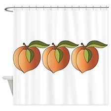 Row Of Peaches Shower Curtain