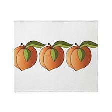 Row Of Peaches Throw Blanket