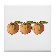 Row Of Peaches Tile Coaster