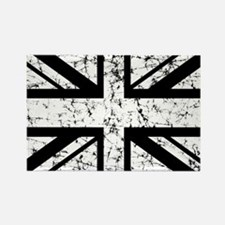 """White Union Jack"" Rectangle Magnet"