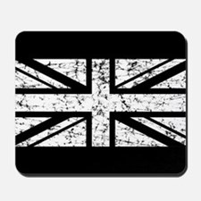"""White Union Jack"" Mousepad"