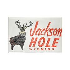 Vintage Jackson Hole Rectangle Magnet (10 pack)