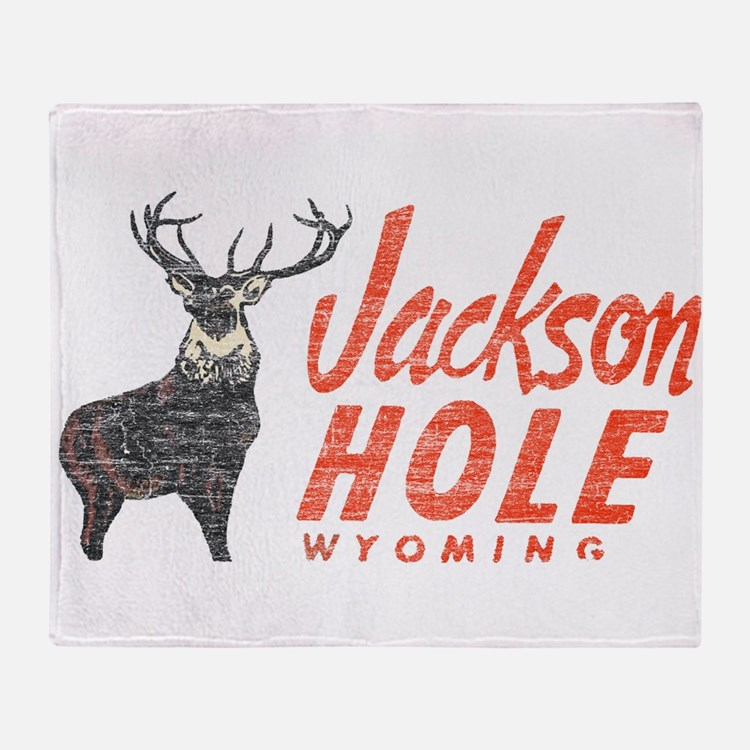 Vintage Jackson Hole Throw Blanket