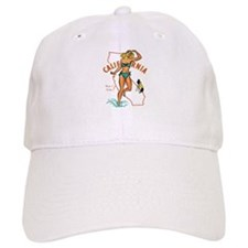 Vintage California Pinup Baseball Cap