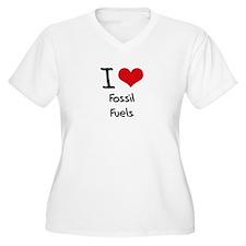 I Love Fossil Fuels Plus Size T-Shirt