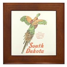 South Dakota Pheasant Framed Tile