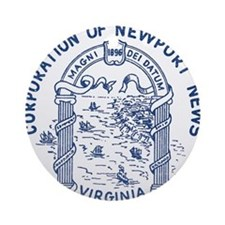Newport News Virginia Ornament (Round)