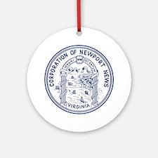 Newport News Virginia Ornament (Round)