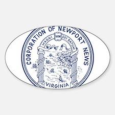 Newport News Virginia Sticker (Oval)