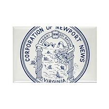 Newport News Virginia Rectangle Magnet