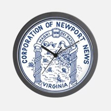 Newport News Virginia Wall Clock