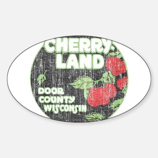 Door County Cherryland Sticker (Oval)
