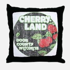 Door County Cherryland Throw Pillow