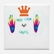 keep calm and create Tile Coaster