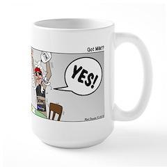 Indy 500 Winner Breakfast Faux Pas Large Mug
