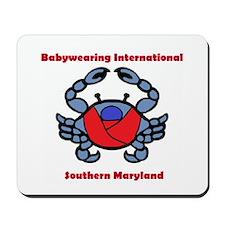 BWI Southern Maryland crab logo Mousepad