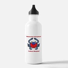 BWI Southern Maryland crab logo Water Bottle