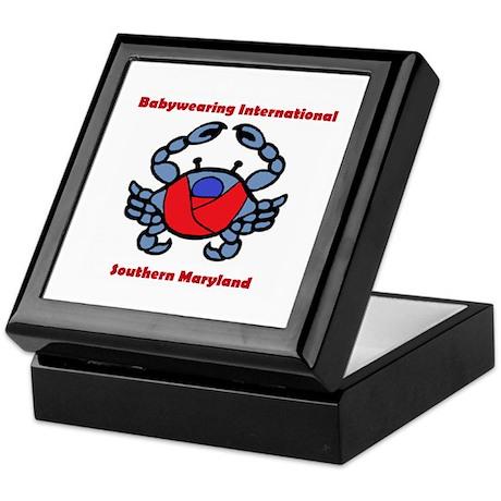 BWI Southern Maryland crab logo Keepsake Box