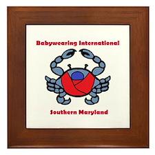 BWI Southern Maryland crab logo Framed Tile