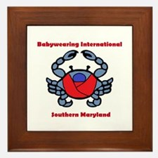 BWI Southern Maryland crab logo Framed Tile