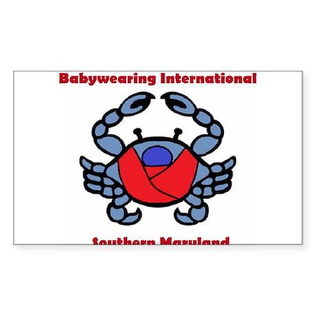 BWI Southern Maryland crab logo Sticker