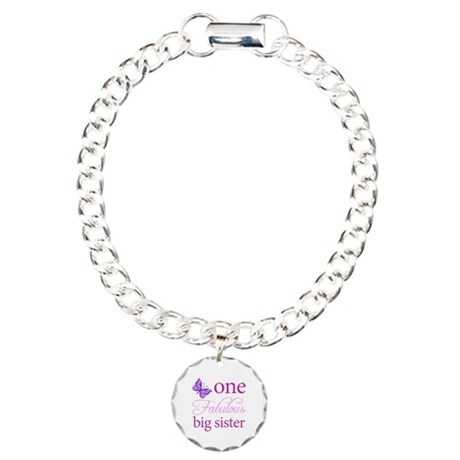 One Fabulous Big Sister Charm Bracelet, One Charm
