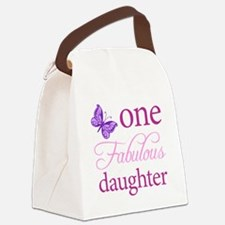 One Fabulous Daughter Canvas Lunch Bag