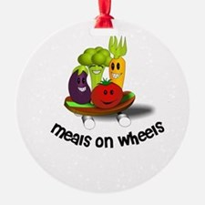 Funny Meals on Wheels Ornament