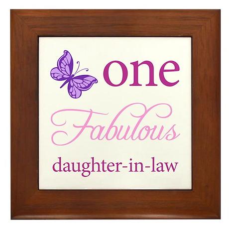 One Fabulous Daughter-In-Law Framed Tile